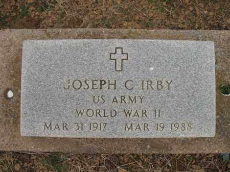 IRBY (VETERAN WWII), JOSEPH C - Cross County, Arkansas | JOSEPH C IRBY (VETERAN WWII) - Arkansas Gravestone Photos