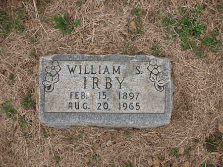 IRBY, WILLIAM S - Cross County, Arkansas | WILLIAM S IRBY - Arkansas Gravestone Photos