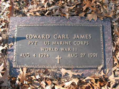 JAMES (VETERAN WWII), EDWARD CARL - Cross County, Arkansas | EDWARD CARL JAMES (VETERAN WWII) - Arkansas Gravestone Photos