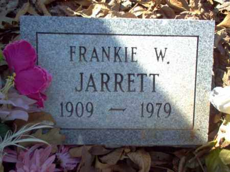 JARRETT, FRANKIE W - Cross County, Arkansas | FRANKIE W JARRETT - Arkansas Gravestone Photos