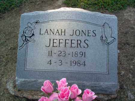 JEFFERS, LANAH - Cross County, Arkansas | LANAH JEFFERS - Arkansas Gravestone Photos