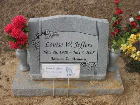 JEFFERS, LOUISE W - Cross County, Arkansas | LOUISE W JEFFERS - Arkansas Gravestone Photos