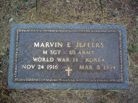 JEFFERS (VETERAN 2 WARS), MARVIN EARL - Cross County, Arkansas | MARVIN EARL JEFFERS (VETERAN 2 WARS) - Arkansas Gravestone Photos
