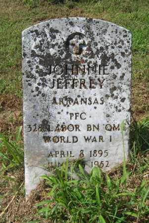 JEFFERY (VETERAN WWI), JOHNNIE - Cross County, Arkansas | JOHNNIE JEFFERY (VETERAN WWI) - Arkansas Gravestone Photos