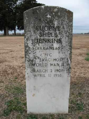JENKINS (VETERAN WWII), EUGENE SHELL - Cross County, Arkansas | EUGENE SHELL JENKINS (VETERAN WWII) - Arkansas Gravestone Photos