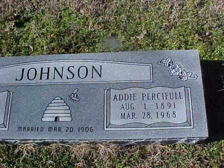 PERCIFULL JOHNSON, ADDIE - Cross County, Arkansas | ADDIE PERCIFULL JOHNSON - Arkansas Gravestone Photos