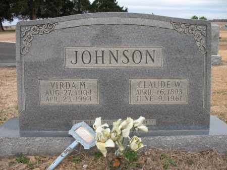 JOHNSON, CLAUDE W - Cross County, Arkansas | CLAUDE W JOHNSON - Arkansas Gravestone Photos