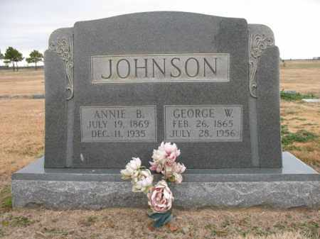 JOHNSON, GEORGE W - Cross County, Arkansas | GEORGE W JOHNSON - Arkansas Gravestone Photos