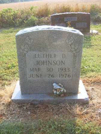 JOHNSON, LUTHER D - Cross County, Arkansas | LUTHER D JOHNSON - Arkansas Gravestone Photos