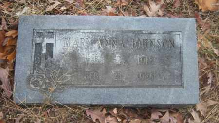 JOHNSON, MARY ANNA - Cross County, Arkansas | MARY ANNA JOHNSON - Arkansas Gravestone Photos