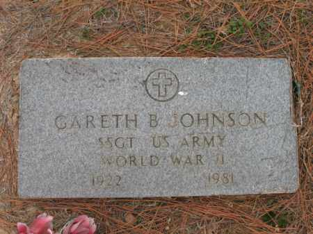 JOHNSON (VETERAN WWII), GARETH B - Cross County, Arkansas | GARETH B JOHNSON (VETERAN WWII) - Arkansas Gravestone Photos