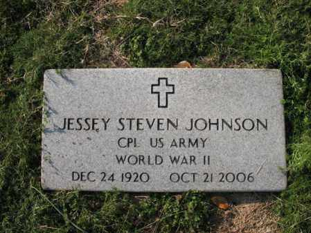 JOHNSON (VETERAN WWII), JESSEY STEVEN - Cross County, Arkansas | JESSEY STEVEN JOHNSON (VETERAN WWII) - Arkansas Gravestone Photos