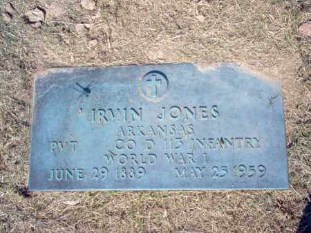 JONES  (VETERAN WWI), IRVIN - Cross County, Arkansas | IRVIN JONES  (VETERAN WWI) - Arkansas Gravestone Photos