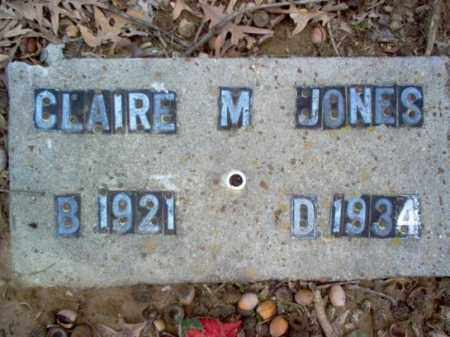 JONES, CLAIRE MARIE - Cross County, Arkansas | CLAIRE MARIE JONES - Arkansas Gravestone Photos