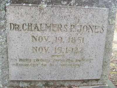 JONES, DR., CHALMERS P. - Cross County, Arkansas | CHALMERS P. JONES, DR. - Arkansas Gravestone Photos