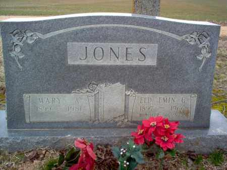 JONES, ELD, EMIN G - Cross County, Arkansas | EMIN G JONES, ELD - Arkansas Gravestone Photos