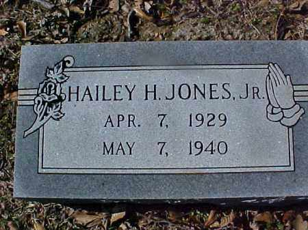 JONES, JR, HAILEY H - Cross County, Arkansas | HAILEY H JONES, JR - Arkansas Gravestone Photos