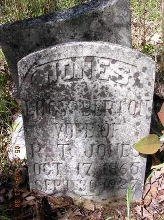 BERTON JONES, LUCY - Cross County, Arkansas | LUCY BERTON JONES - Arkansas Gravestone Photos