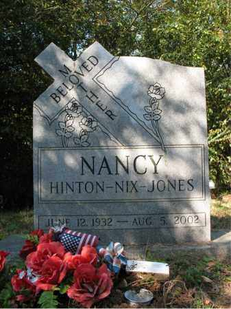 JONES, NANCY NIX - Cross County, Arkansas | NANCY NIX JONES - Arkansas Gravestone Photos
