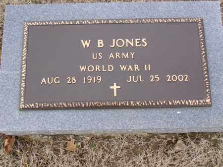 JONES  (VETERAN WWII), W B - Cross County, Arkansas | W B JONES  (VETERAN WWII) - Arkansas Gravestone Photos