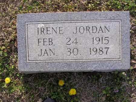 JORDAN, IRENE - Cross County, Arkansas | IRENE JORDAN - Arkansas Gravestone Photos