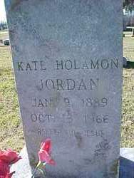 HOLAMON JORDAN, KATHERINE  (KATE) - Cross County, Arkansas | KATHERINE  (KATE) HOLAMON JORDAN - Arkansas Gravestone Photos