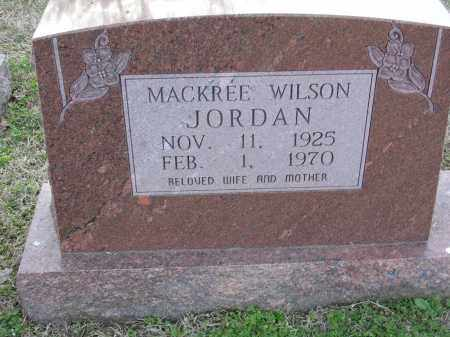 JORDAN, MACKREE WILSON - Cross County, Arkansas | MACKREE WILSON JORDAN - Arkansas Gravestone Photos