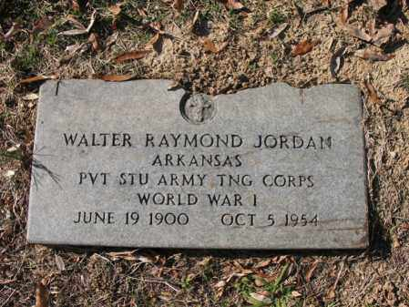 JORDAN (VETERAN WWI), WALTER RAYMOND - Cross County, Arkansas | WALTER RAYMOND JORDAN (VETERAN WWI) - Arkansas Gravestone Photos