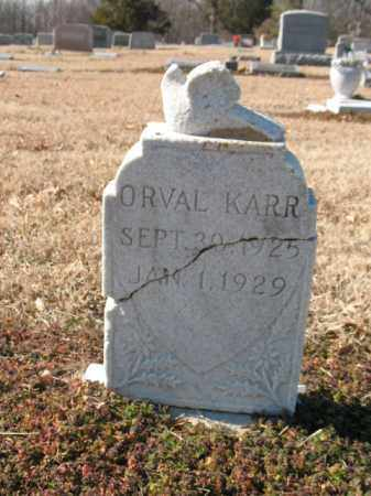KARR, ORVAL - Cross County, Arkansas | ORVAL KARR - Arkansas Gravestone Photos