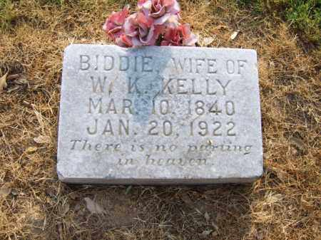 KELLY, BIDDIE - Cross County, Arkansas | BIDDIE KELLY - Arkansas Gravestone Photos