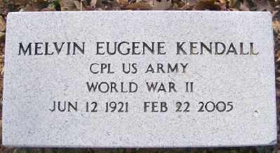 KENDALL (VETERAN WWII), MELVIN EUGENE - Cross County, Arkansas | MELVIN EUGENE KENDALL (VETERAN WWII) - Arkansas Gravestone Photos