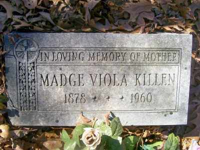 KILLEN, MADGE VIOLA - Cross County, Arkansas | MADGE VIOLA KILLEN - Arkansas Gravestone Photos