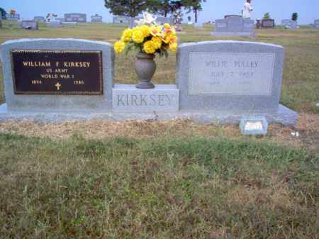 KIRKSEY (VETERAN WWI), WILLIAM F - Cross County, Arkansas | WILLIAM F KIRKSEY (VETERAN WWI) - Arkansas Gravestone Photos