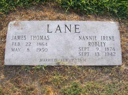 LANE, NANNIE IRENE - Cross County, Arkansas | NANNIE IRENE LANE - Arkansas Gravestone Photos