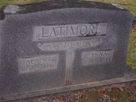 LATIMORE, ANNA - Cross County, Arkansas | ANNA LATIMORE - Arkansas Gravestone Photos