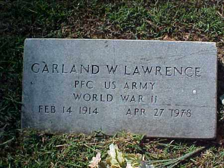LAWRENCE  (VETERAN WWII), GARLAND W - Cross County, Arkansas | GARLAND W LAWRENCE  (VETERAN WWII) - Arkansas Gravestone Photos