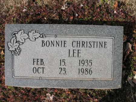 LEE, BONNIE CHRISTINE - Cross County, Arkansas | BONNIE CHRISTINE LEE - Arkansas Gravestone Photos