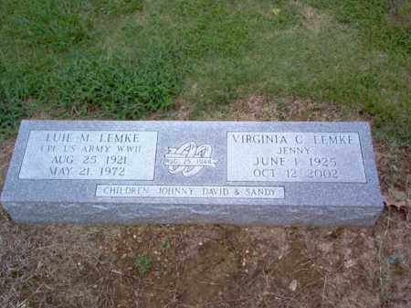 LEMKE (VETERAN WWII), LUIE M - Cross County, Arkansas | LUIE M LEMKE (VETERAN WWII) - Arkansas Gravestone Photos