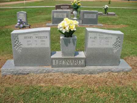 LEONARD, HENRY WEBSTER - Cross County, Arkansas | HENRY WEBSTER LEONARD - Arkansas Gravestone Photos