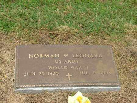LEONARD (VETERAN WWII), NORMAN W - Cross County, Arkansas | NORMAN W LEONARD (VETERAN WWII) - Arkansas Gravestone Photos