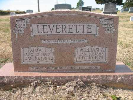 LEVERETTE, WILLIAM A - Cross County, Arkansas | WILLIAM A LEVERETTE - Arkansas Gravestone Photos
