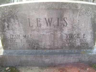 LEWIS, VIRGIL E. - Cross County, Arkansas | VIRGIL E. LEWIS - Arkansas Gravestone Photos