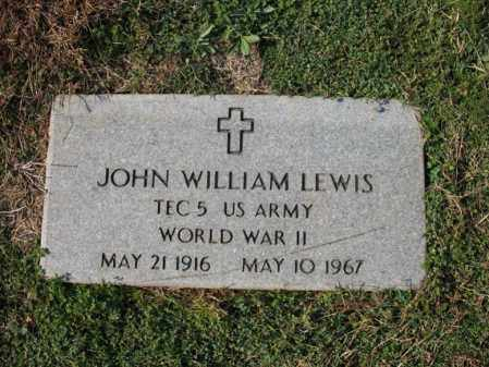 LEWIS (VETERAN WWII), JOHN WILLIAM - Cross County, Arkansas | JOHN WILLIAM LEWIS (VETERAN WWII) - Arkansas Gravestone Photos