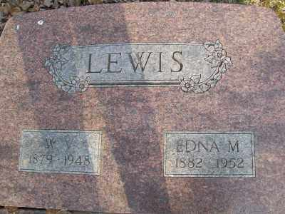 LEWIS, EDNA M. - Cross County, Arkansas | EDNA M. LEWIS - Arkansas Gravestone Photos
