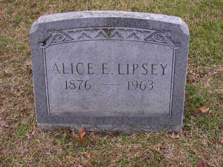 LIPSEY, ALICE E - Cross County, Arkansas | ALICE E LIPSEY - Arkansas Gravestone Photos