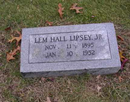 LIPSEY, LEM HALL - Cross County, Arkansas | LEM HALL LIPSEY - Arkansas Gravestone Photos