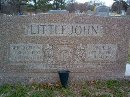 LITTLEJOHN, CECIL MARION - Cross County, Arkansas | CECIL MARION LITTLEJOHN - Arkansas Gravestone Photos