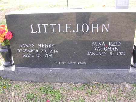 VAUGHAN LITTLEJOHN, NINA REID - Cross County, Arkansas | NINA REID VAUGHAN LITTLEJOHN - Arkansas Gravestone Photos