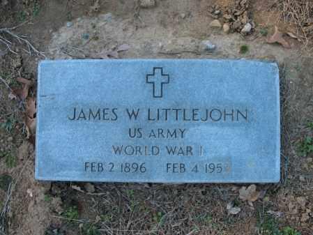 LITTLEJOHN (VETERAN WWI), JAMES W - Cross County, Arkansas | JAMES W LITTLEJOHN (VETERAN WWI) - Arkansas Gravestone Photos