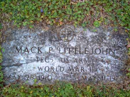 LITTLEJOHN (VETERAN WWII), MACK PATTERSON - Cross County, Arkansas | MACK PATTERSON LITTLEJOHN (VETERAN WWII) - Arkansas Gravestone Photos